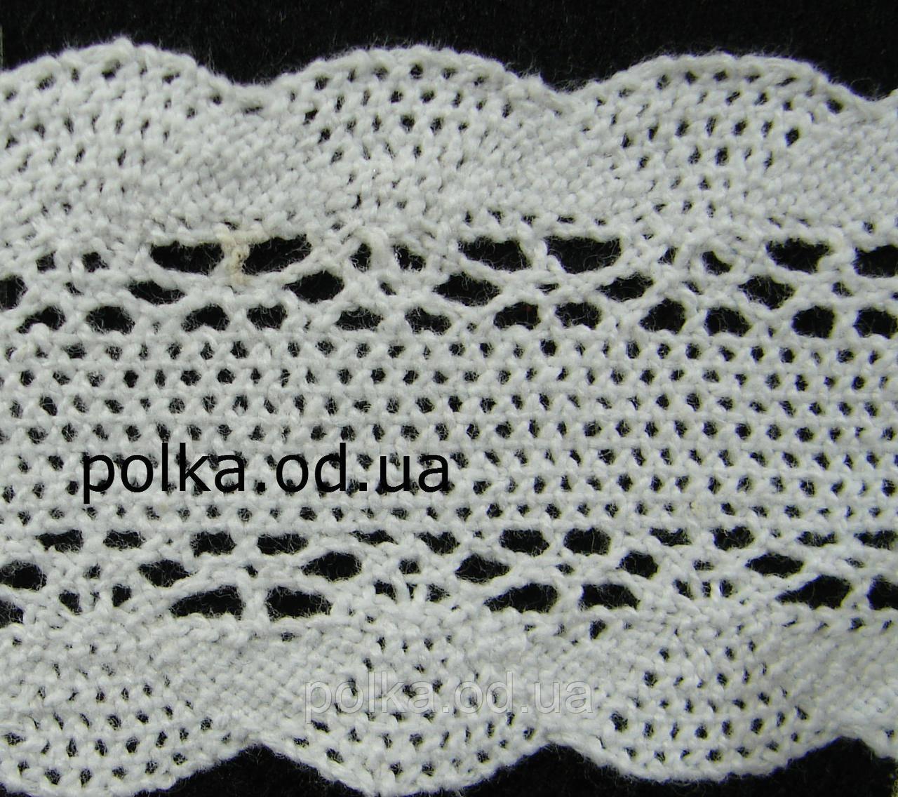 Вязаное кружево -ширина 4.3см,цвет белый (1уп-45м)