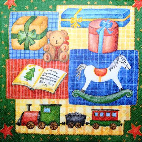 Декупажная салфетка Новогодние игрушки 3885