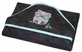 """Полотенце с капюшоном  """"Сова""""  махра 80*80 см"""