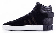 Мужские кроссовки AD Tubular Invader Strap Shoes Black White. ТОП Реплика ААА класса.