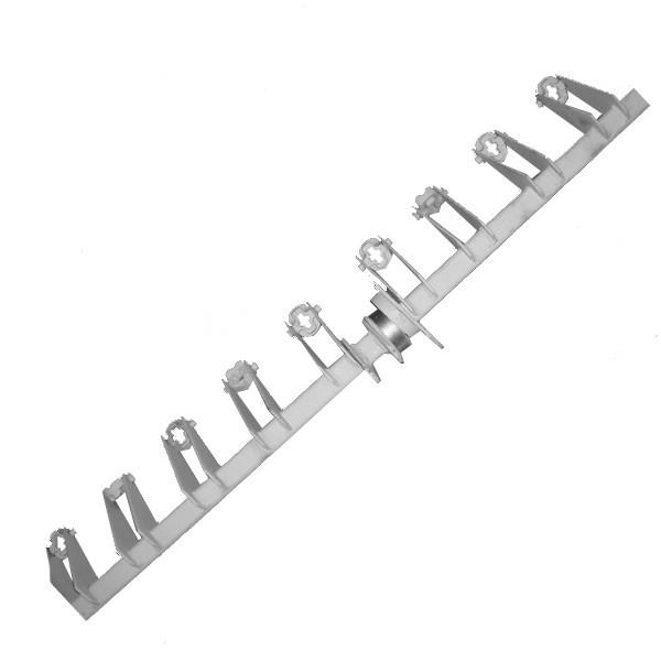 Вал механизма навески сошников (левый, квадратный 42х42мм) СЗ-3,6