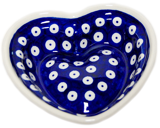 Сердце керамическая форма маленькая Polka Dot, фото 2