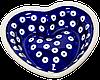 Сердце керамическая форма маленькая Polka Dot