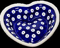 Сердце керамическая форма маленькая Polka Dot, фото 1