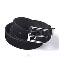 Стильный кожаный ремень универсальный (унисекс) (черный)