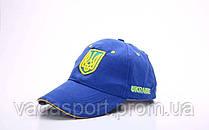 Кепка спортивная (бейсболка) детская Украина CO-1928 (х-б, р-р 54-55см, синий-желтый)