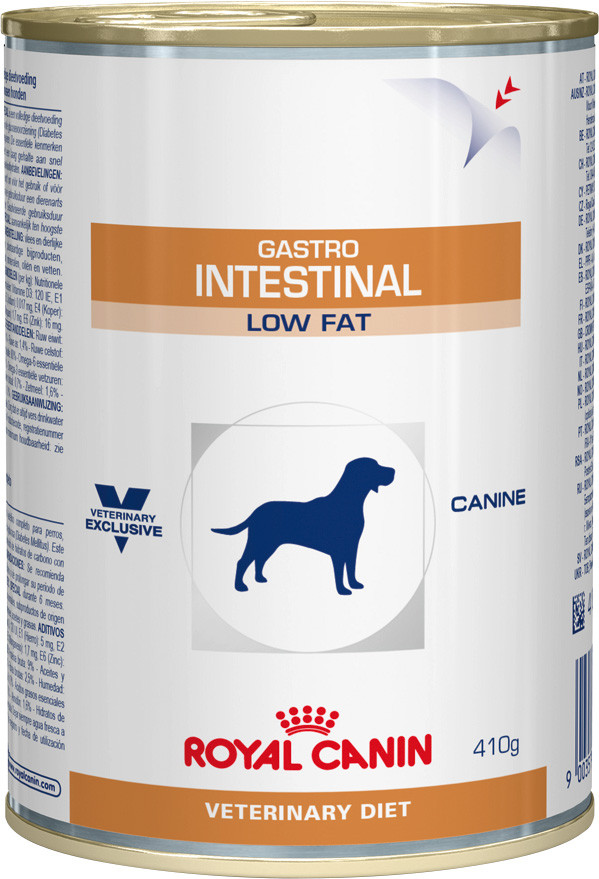 Royal Canin Gastro Intestinal Low Fat консерва для собак 410г*6шт-диета при нарушениях пищеварения