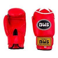 Боксерские перчатки BWS ClubStar красные 8oz-12oz 8 унций, красный