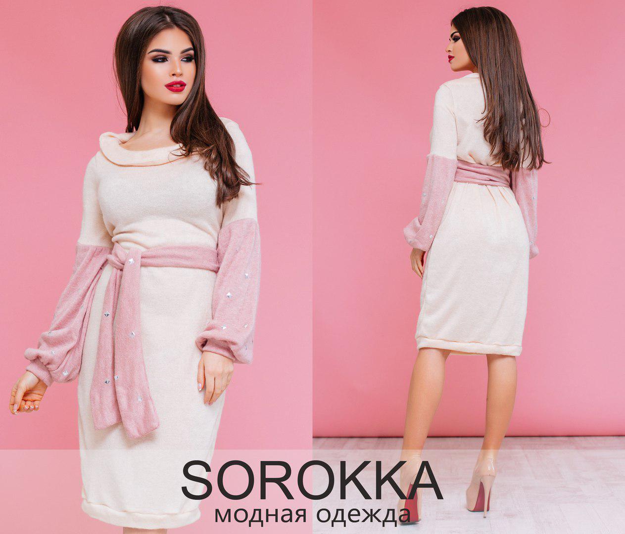 Нежное женское платье ангора-шерсть Размеры: 42-46 ( универсал )