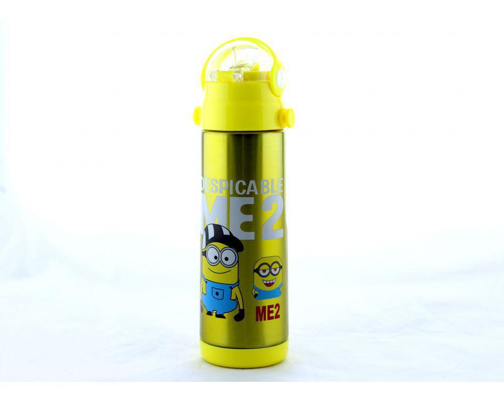 Детский термос Миньон zk g 604 350мл Желтый, Minions 350ml Yellow