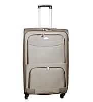 Дорожный чемодан 4 колеса (большой) песочный, артикул: 6-240