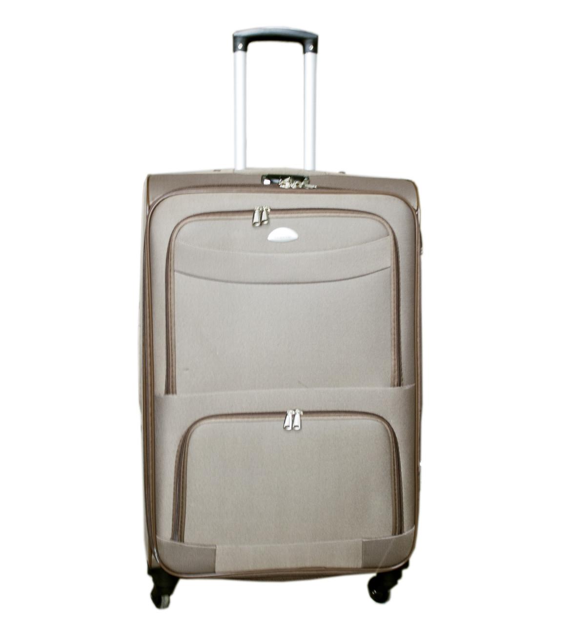 Дорожній чемодан 4 колеса (невеликий) пісочний, артикул: 6-240