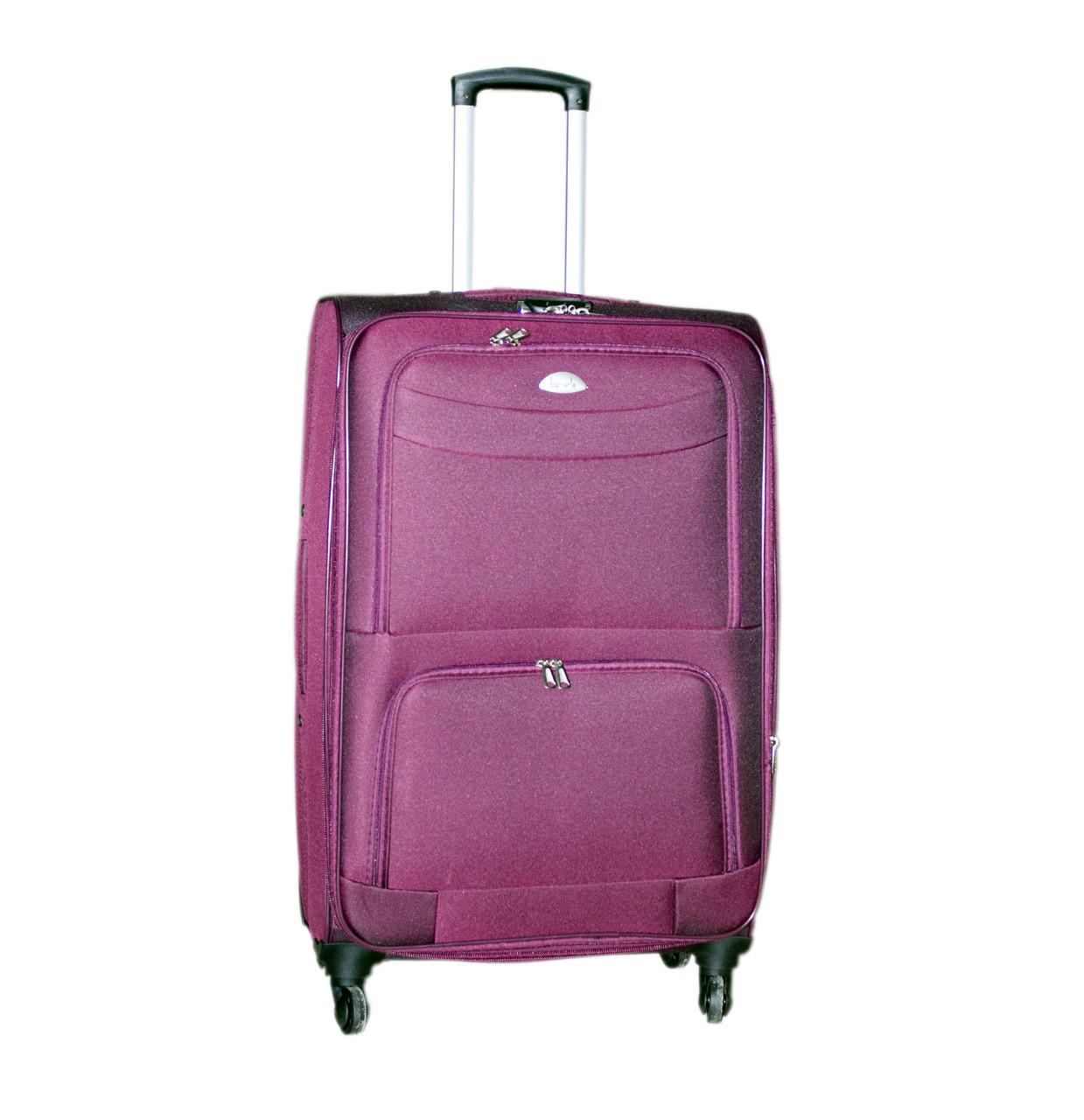 Дорожный чемодан 4 колеса (средний) тёмно-фиолетовый, артикул: 6-240