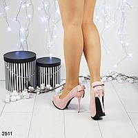 Туфли на скрытой платформе с бантиком на пяточке