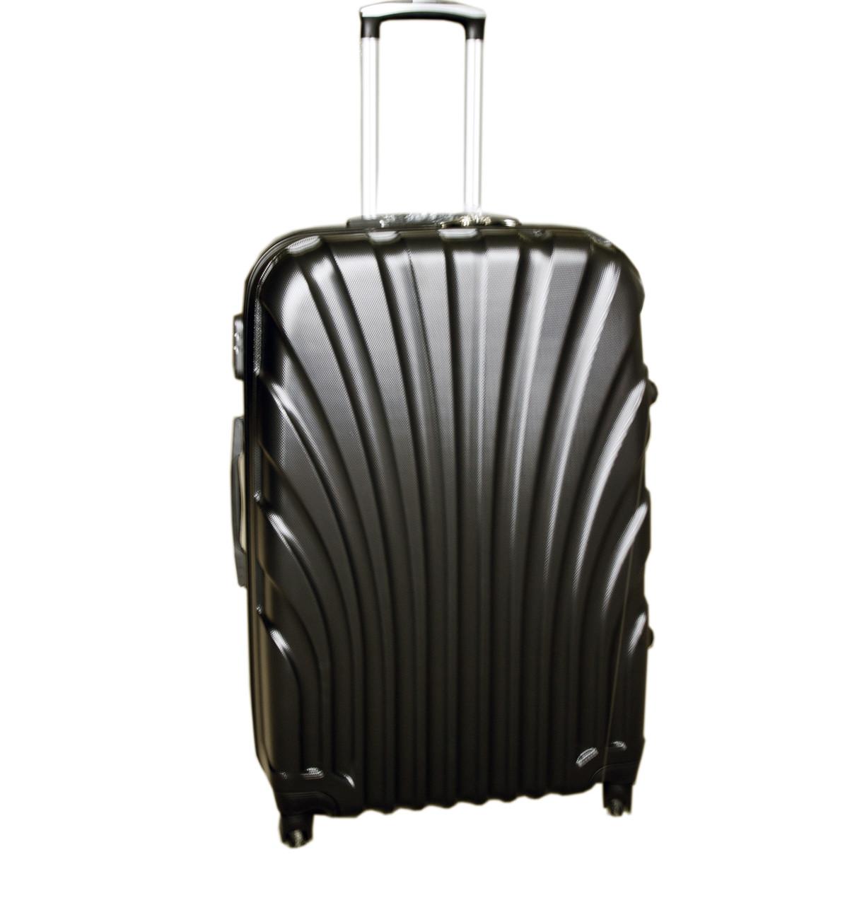 Дорожный чемодан 4 колеса набор 3 штуки черный, артикул: 6-244