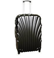 Дорожній чемодан 4 колеса (невеликий) чорний, артикул: 6-244