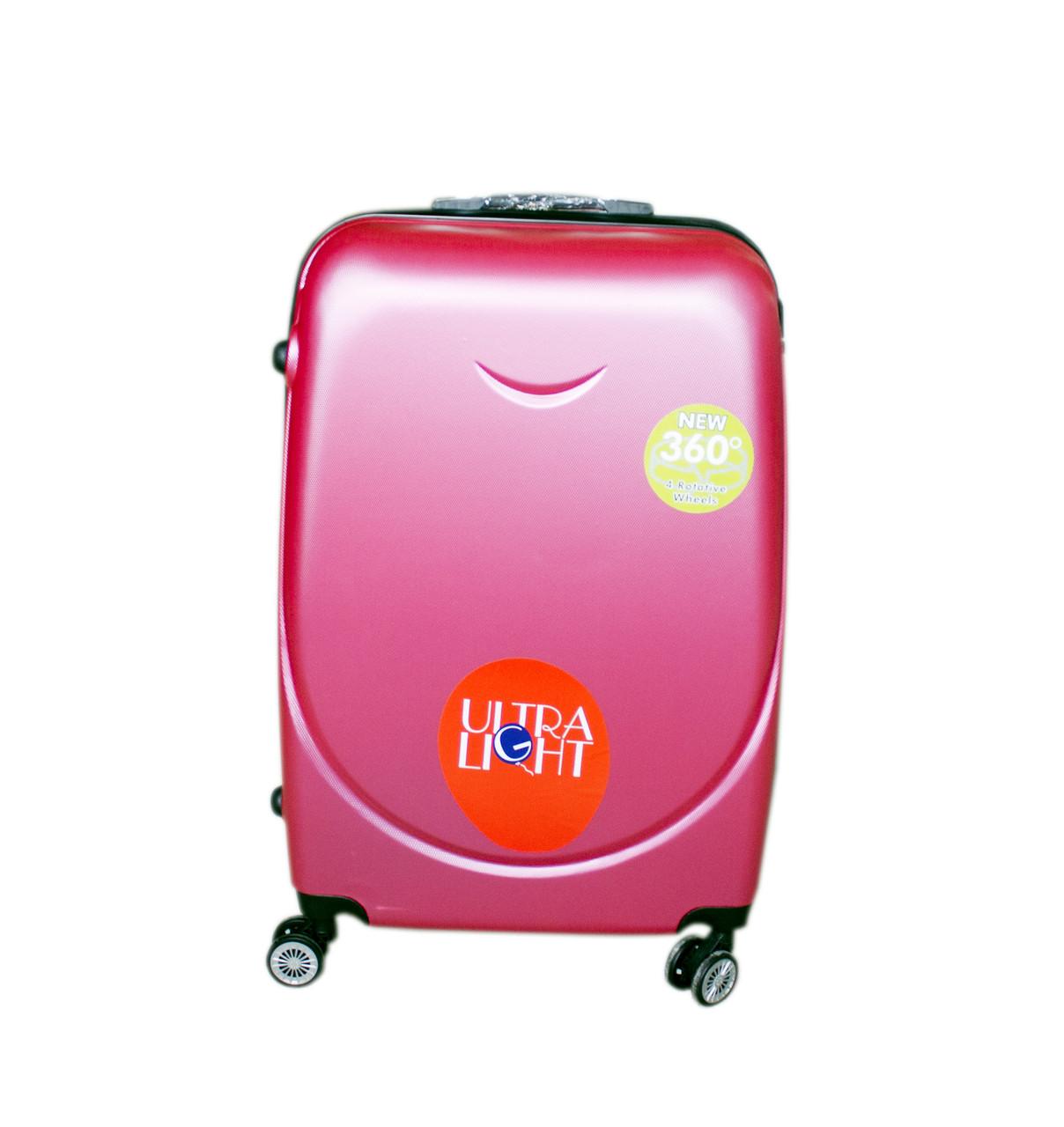e1b8f4fa3f45 Дорожный чемодан с двойными 4 колесами набор 3 штуки розовый, артикул  6-243