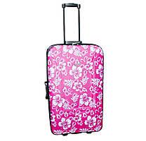 Дорожный чемодан 2 колеса набор 3 штуки розовый с цветами, артикул: 12126-680