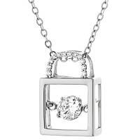 Серебряное колье Кек-уок с фианитами 000053989