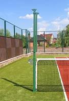 Стойки универсальные для волейбола, большого тенниса с устройством натяжения троса и стаканами