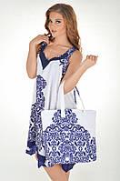 Сумка пляжная Iconique IC7 094 One Size Синий-Белый