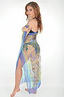 Парео пляжной Amarea 17093 P One Size Синий