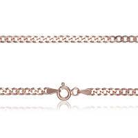 Серебряная цепь Арес с позолотой, 45 см 000039396