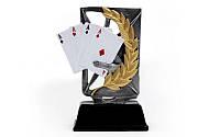Статуэтка (фигурка) наградная спортивная Карточные игры C-3156-A8 (р-р 12х3,5х16см)