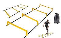 Координационная лестница дорожка с барьерами 4,3м (12 перекладин) C-4892-12