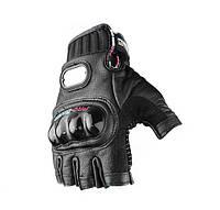 Вело-мото перчатки кожаные MCS-04H