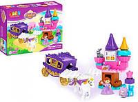 Конструктор JDLT замок принцессы, карета с лошадью, 55 дет (5282)