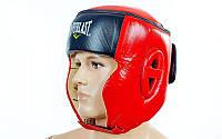 Шлем боксерский в мексиканском стиле кожа красный EVERLAST VL-6147-R