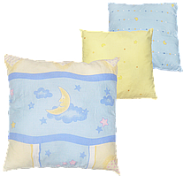 Детская подушка на силиконе, гипоаллергенная, верх хлопок, 38х38 см, ТМ Ромашка