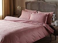 Двуспальное евро постельное белье TAC  Жаккард Gardenia-pink