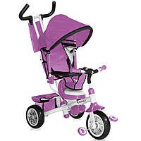 Велосипед детский трехколесный Lorelli - амортизатор переднего колеса, сиденье с мягкой подушкой, родительская