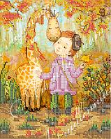 """Схема для вышивки бисером W-481 """"Мой листопадовый жираф""""(Мій листопадковий жираф)"""