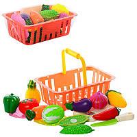 Детский игровой набор «Продукты на липучке» в корзинке CY-003
