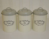 Набор баночек для хранения сыпучих продуктов (3 шт.)