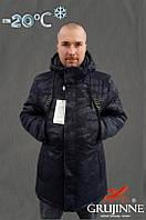 Мужская зимняя куртка, парка милитари, в котоне, на холлофайбере