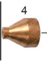 Сопло 1,0мм (45А) к плазмотрону Kjellberg® PB-S45W (T-8611)