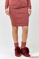 Модная вязаная юбка в спортивном стиле