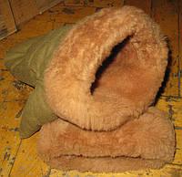 Рукавицы варежки армейские овчина коричневый мех (СССР)