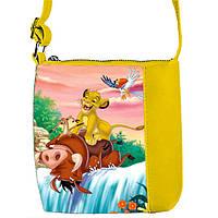 Желтая сумка с принтом Король Лев