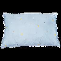 Детская подушка на силиконе, гипоаллергенная, верх хлопок, 58х38 см, ТМ Ромашка