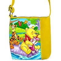 Модная сумка для девочки с принтом Вини пух
