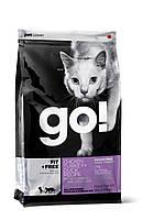 Сухой беззерновой корм «Go! 4 вида мяса: курица, индейка, утка и лосось» (для котят и кошек) 0,23кг