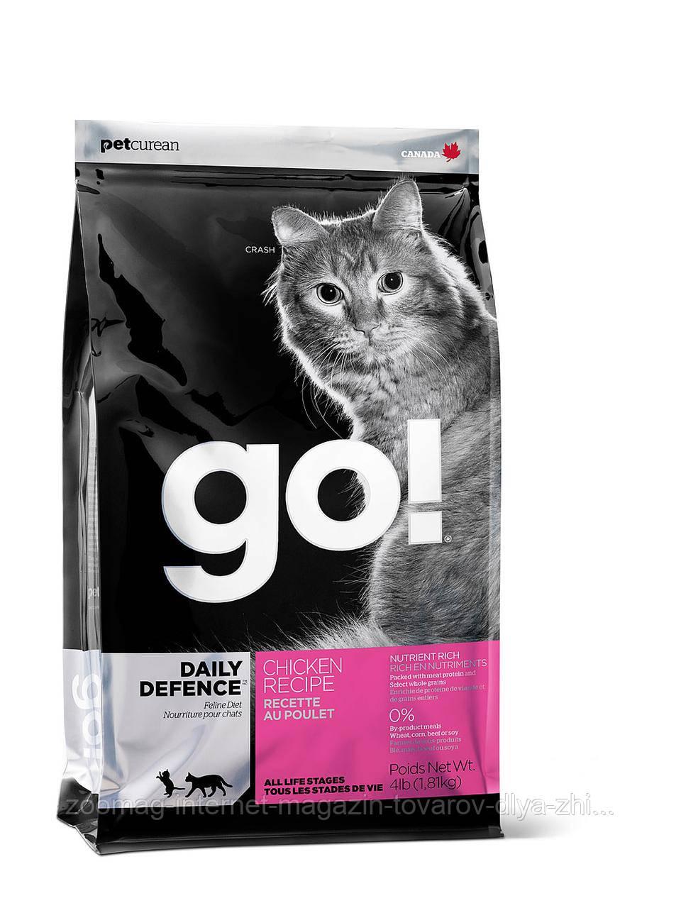 Сухой беззерновой корм «Go! С цельной курицей, фруктами и овощами» (для котят и кошек) 7,26кг