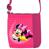 Розовая сумка для девочки с принтом Минни