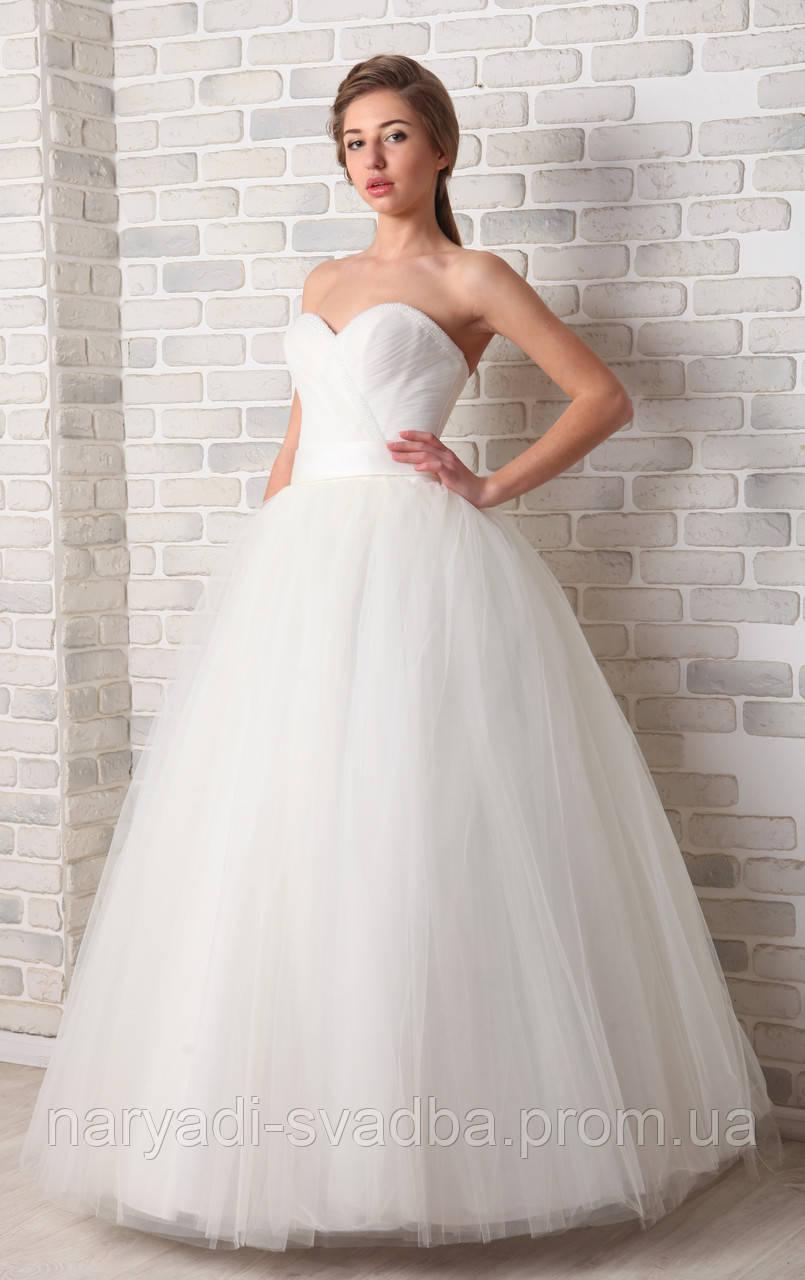 28862b4267c Пышное свадебное платье цвета ivory