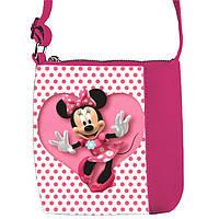 Розовая сумка для девочки с принтом Мики